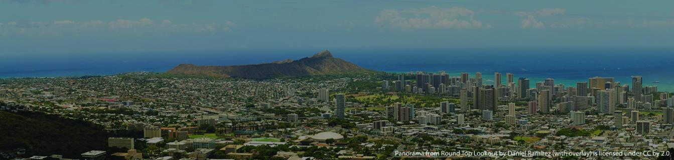 Honolulu image (with overlay) from Flickr user Daniel Ramirez (CC by 2.0)