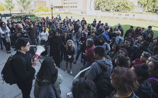 University of Minnesota students protest hate speech