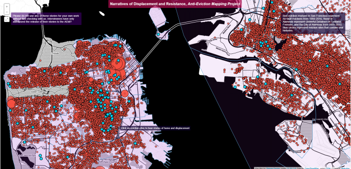 Screenshot of the Anti-Eviction Mapping Project
