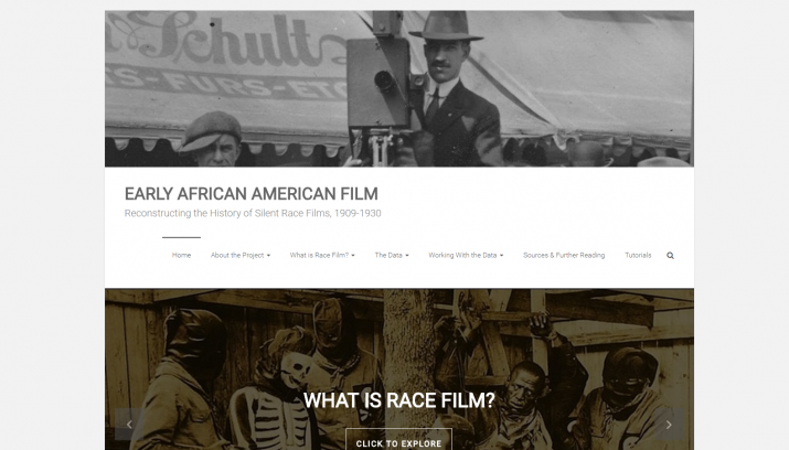 Screenshot of Early African American Film