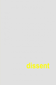 Photo of 2017 Annual meeting cover- word 'Dissent'
