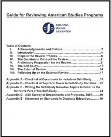 Screenshot of the ASA Guide for Program Review